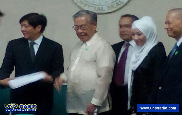 National Peace Council, isinumite sa Senado ang kanilang full report sa proposed Bangsamoro Basic Law