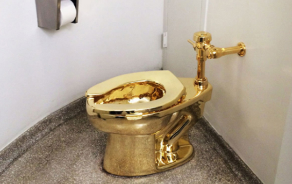 Gintong toilet bowl(Photo credit: The New Yorker)