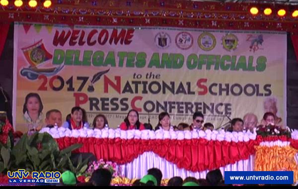 Mga kalahok sa National Schools Press Conference 2017